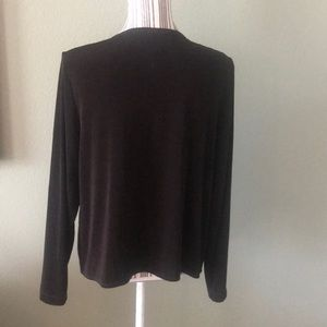 Chico's Tops - Chico's Travelers dark brown Top